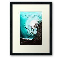 Jade Lagoon Framed Print