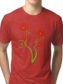 Red blossom flowers Tri-blend T-Shirt
