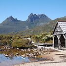 Boatshed - Cradle Mountain by Robert Jenner