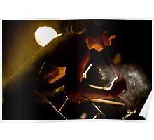 smoke on the drumkit Poster