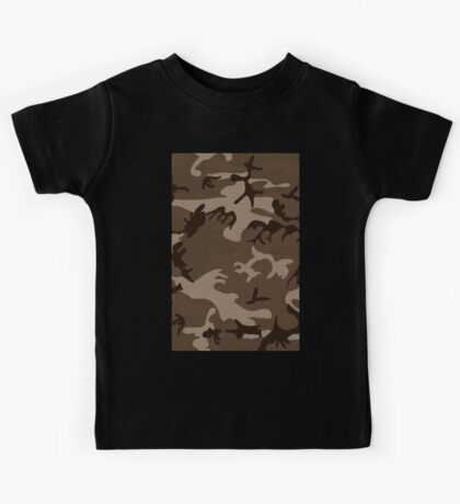 Army Camouflage by Chillee Wilson Kids Tee