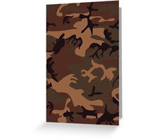 Army Camouflage by Chillee Wilson Greeting Card