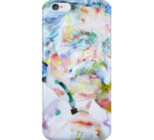 MARK TWAIN - watercolor portrait iPhone Case/Skin