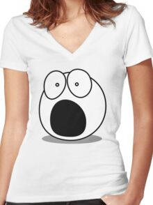What? by Chillee Wilson Women's Fitted V-Neck T-Shirt