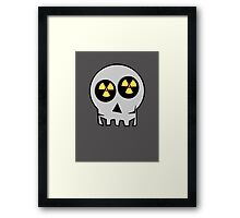 NUCLEAR FALL-OUT SKULL by Chillee Wilson Framed Print