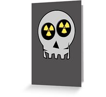 NUCLEAR FALL-OUT SKULL by Chillee Wilson Greeting Card
