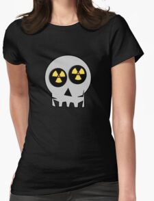 NUCLEAR FALL-OUT SKULL by Chillee Wilson Womens Fitted T-Shirt