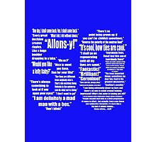 50 Years of Quotes - Doctor Who Photographic Print