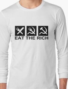 EAT THE RICH, by Chillee Wilson Long Sleeve T-Shirt