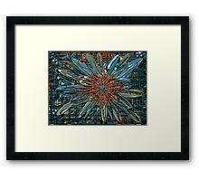 Z-Brush Flower Framed Print