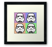 Super Size Colorized Stormtrooper Framed Print