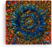 Z-Brush Flower Canvas Print