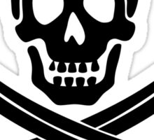 Pirate Flag Skull and Crossed Swords by Chillee Wilson Sticker