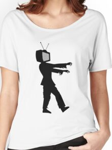 Zombie TV Guy by Chillee Wilson Women's Relaxed Fit T-Shirt