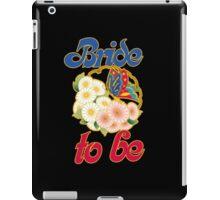 Retro bride to be iPad Case/Skin