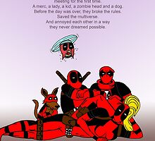 The Deadpool Club movie poster by Zack Cogburn