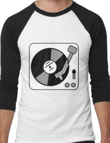 Retro Record Player by Chillee Wilson Men's Baseball ¾ T-Shirt