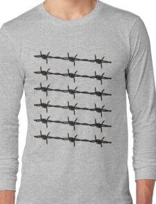 Barbed Wire by Chillee Wilson Long Sleeve T-Shirt