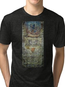 Yoga of Sleeping - Lotus and Guru detail Tri-blend T-Shirt