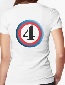 FOUR, ROUNDEL, NUMBER 4, FOURTH, 4,TEAM SPORTS, Competition, T-Shirt