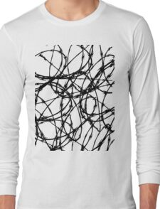 Razor Wire by Chillee Wilson Long Sleeve T-Shirt