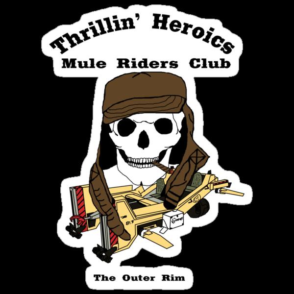 Thrillin' Heroics Mule Riders Club logo by reddesilets