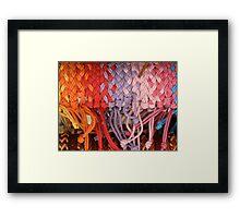 Coloured Knots Framed Print