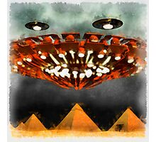 UFOs Over Pyramids by Raphael Terra Photographic Print