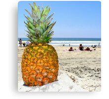 Homesick Pineapple On The Beach Canvas Print