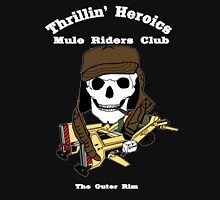 Thrillin' Heroics Mule Riders Club logo - white font T-Shirt