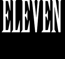 Eleven, Eleventh, 11, TEAM SPORTS NUMBER, Competition, WHITE by TOM HILL - Designer