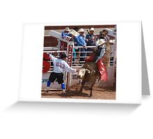 Bull Fighters, Rodeo, Bulls, Calgary Stampede Greeting Card