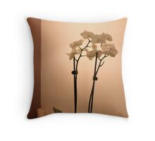 bath time - orchids by the bath Throw Pillow