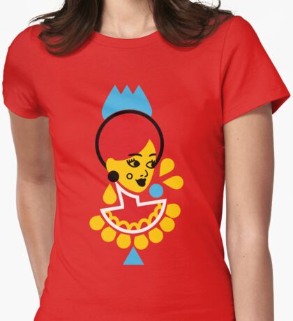 Goddess in Red Womens Fitted T-Shirt