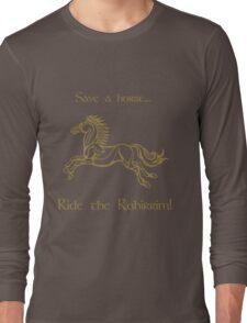 Save a horse... Ride the Rohirrim! - Tan Long Sleeve T-Shirt