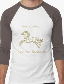 Save a horse... Ride the Rohirrim! - Tan Men's Baseball ¾ T-Shirt