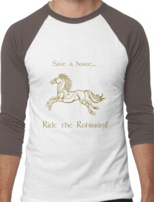 Save a horse... Ride the Rohirrim! - Tan Men's Baseball ¾ T-Shirt