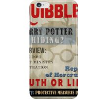 Harry Potter Quibbler Cover iPhone Case/Skin