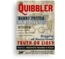 Harry Potter Quibbler Cover Canvas Print