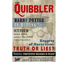 Harry Potter Quibbler Cover Photographic Print