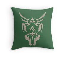 Wolf Link Blue Eyed Beast Throw Pillow