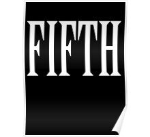 FIFTH, FIVE, NUMBER 5, TEAM SPORTS, 5, Competition, WHITE Poster