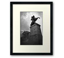 Statue, Vienna Austria Framed Print