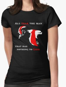 God of War Fear The Man Womens Fitted T-Shirt
