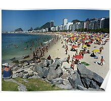 Copacabana Beach, Rio de Janeiro Poster