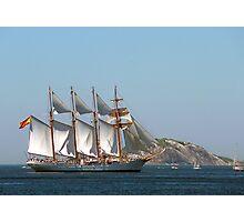 Grandes Veleiros, Tall Ship Elcano in Rio Photographic Print