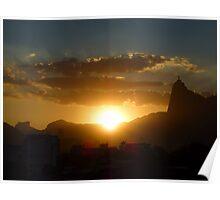 Sunset in Urca, Rio de Janeiro Poster