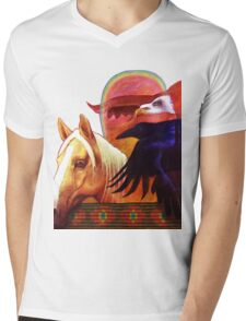 Rainbow Warrior Mens V-Neck T-Shirt