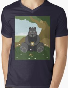 Bear with a jar of honey Mens V-Neck T-Shirt