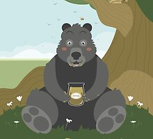 Bear with a jar of honey by paulrommer